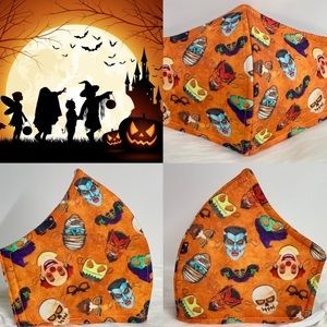 Happy Halloween Fun Designer Adult Face Mask